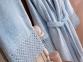 Набор женский халат с кружевом и полотенце Marie Claire Valerie blue 0