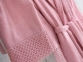 Набор женский халат с кружевом и полотенце Marie Claire Valerie pink 0
