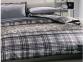Постельное белье TAC Luna черный сатин полуторный 1