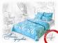 Постельное белье Home Line АСАГАО бирюзовый сатин полуторный 0