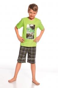 Пижама 801 - 48 Fly Cornette зелено-т.серый