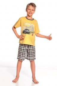 Пижама 801 - 49 Safari Cornette желто-графитовый