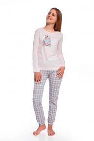 Пижама 291 - 26 Winter time Cornette розово-серый