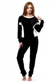 Домашний костюм 350 Effetto черно-белый
