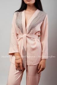 Пижама 402 Effetto бежево-розовый
