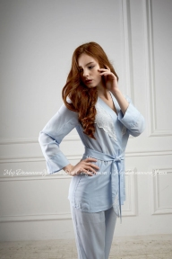 Пижама 402 Effetto светло голубой