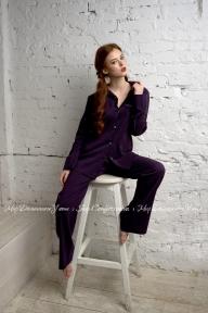 Пижама 407 Effetto фиолетово-черный