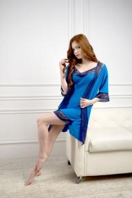 Ночная рубашка 218 Effetto синий