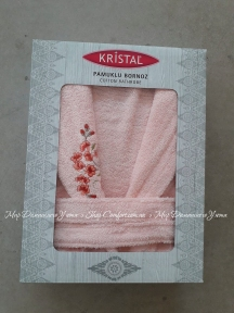 Женский халат Kristal Pembe