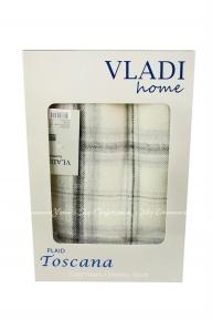Плед Vladi Тоскана 2 140x200 белый, серый (2200000543127)