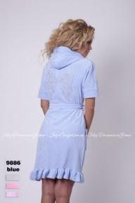 Халат женский Virginia Secret 9886 голубой