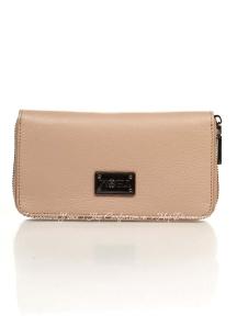 Кошелек Genuine Leather 1640_roze Кожаный Розовый