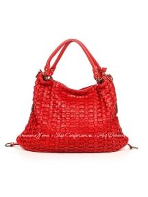 Сумка На Каждый День Italian Bags 9352_vintage_red Кожаная Красный