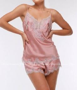 Женская пижама маечка с шортами Suavite Фрея фрезовый