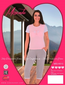 Комплект женский Missendo mis-h 513 toz pe капри и футболка (m012829)