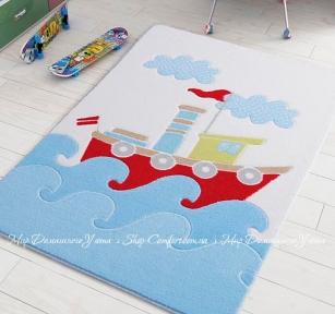 Детский ковер Confetti Confetti Baby Ship blue 100x150