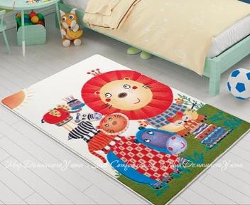Детский ковер Confetti Confetti Lion King orange 100x150