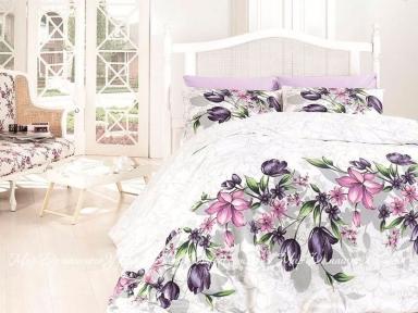 Постельное белье First Сhoice Riella Lila евро de luxe ранфорс цветной