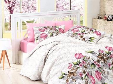 Постельное белье First Сhoice Riella Pembe евро de luxe ранфорс цветной
