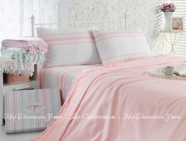 Комплект постельного белья (пике) Pudra Irya ранфорс евро