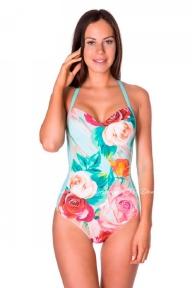 Цельный купальник Bip-Bip 19BT - Amarant turquois roses