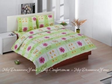 Постельное белье ARYA Classi Carlino green бязь двуспальный