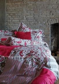 Постельное белье Karaca Home Vera розовый ранфорс полуторный