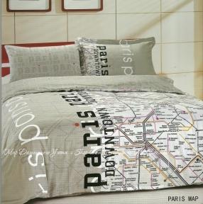 Постельное белье Le Vele Paris Map сатин евро