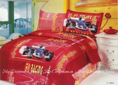 Детское постельное белье Le Vele F1 (красное) сатин полуторный