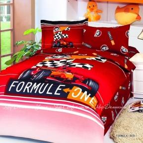 Детское постельное белье Le Vele Formula (красное) сатин полуторный