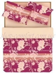 Постельное белье HomeLine ЛАГУНА розовая семейный
