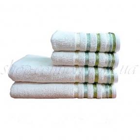 Полотенце махровое Shamrock Bianna (кремово-зеленое) 50х90