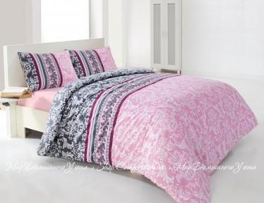Постельное белье ISSIMO HOME CAREN (pink) ранфорс полуторный