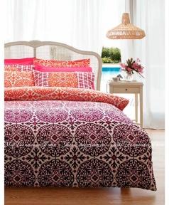 Постельное белье Karaca Home Berry бордовый ранфорс полуторный