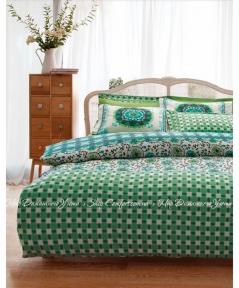 Постельное белье Karaca Home Sita зеленый ранфорс полуторный