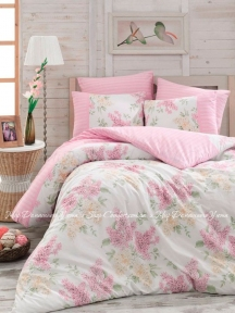 Постельное белье ARYA Alacati pink ранфорс евро