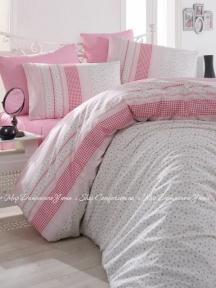 Постельное белье ARYA Defne pink ранфорс евро