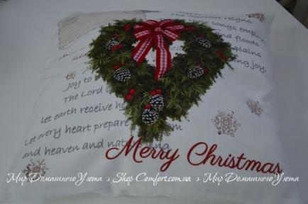 Декоративная наволочка Hosner Рождественское сердце
