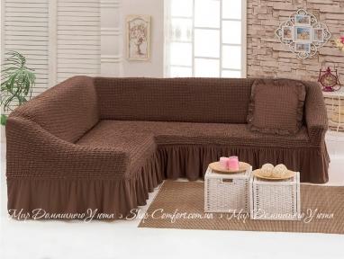 Чехол на угловой диван Love You Шоколад 9 (m015168)