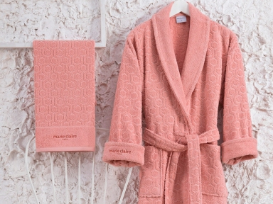Набор женский халат с полотенцами Marie Claire Gladic pink