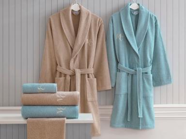 Набор халатов Marie Claire Danya blue-brown