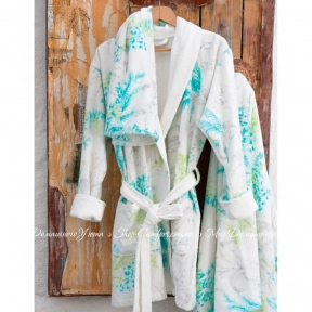 Набор халат с полотенцем Karaca Home Casimiro