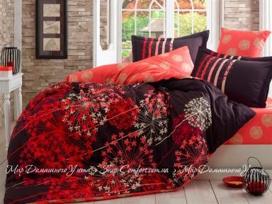 Набор постельного белья Hobby Exclusive Sateen Fiorella Коричневый Семейный (8698499107762)