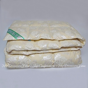 Одеяло пуховое Экопух 200х220 стеганое пух 100%