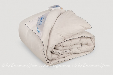 Одеяло пуховое Iglen 100% серый пух 200x220 (2002201G)