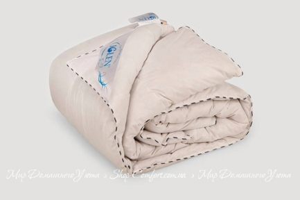 Одеяло пуховое Iglen 100% серый пух 110x140 (11014011G)