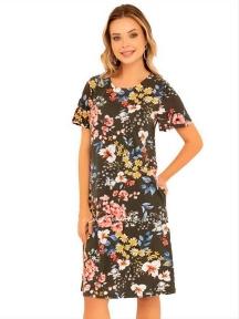 Летнее трикотажное платье с коротким рукавом Cocoon P10955