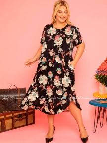Длинное летнее платье из вискозы Cocoon P20700