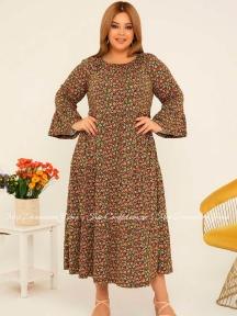 Летнее длинное платье Cocoon P27054 терракотовое