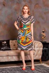 Трикотажное платье с коротким рукавом Cocoon S20619